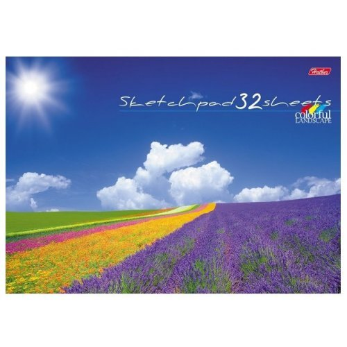 """Альбом для рис.32л. склейка ХАТ """"Цветущие долины"""""""