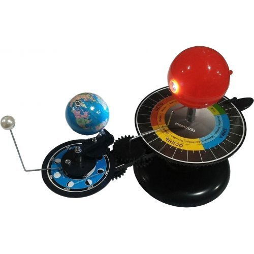 Астрономия. Модель. Теллурий. Солнце-Земля-Луна. Диаметр 210 мм.