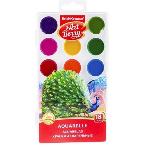 Акварель ArtBerry, 18 цветов, без кисти, с УФ защитой яркости, пластик, европодвес