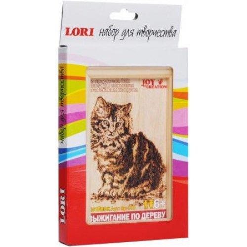 """Выжигание по дереву в рамке Lori """"Котенок"""", 10*15 см, от 6-ти лет, европодвес"""