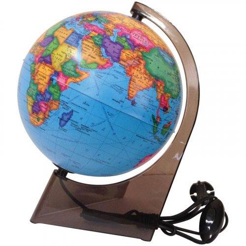 Глобус политический Глобусный мир, 21см, с подсветкой на треугольной подставке