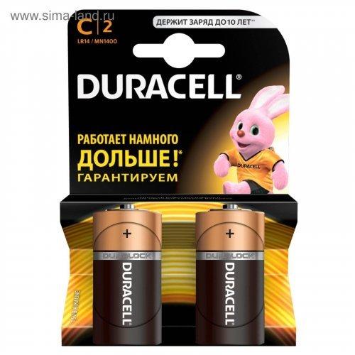Батарейка Duracell Basic C (LR14) алкалиновая, 2BL
