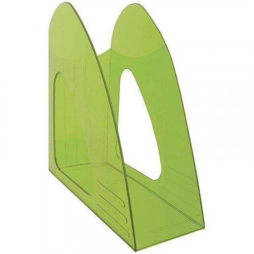 """Лоток для бумаг вертикальный Berlingo """"Mega top"""", тонированный зеленый"""