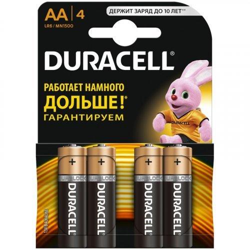 Батарейка Duracell Basic AA (LR06) алкалиновая, 4BL