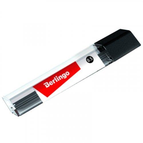 Грифели для механических карандашей Berlingo, 12шт., 0,5м, HB