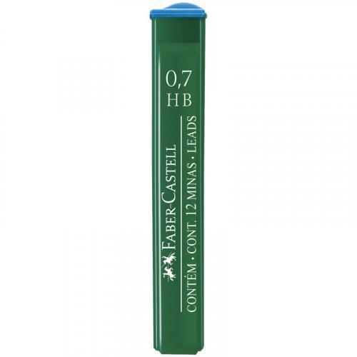 """Грифели для механических карандашей Faber-Castell """"Polymer"""", 12шт., 0,7мм, HB"""
