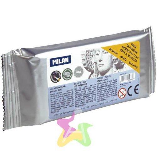 Глина для лепки Milan, белая, 400г, вакуумный пакет