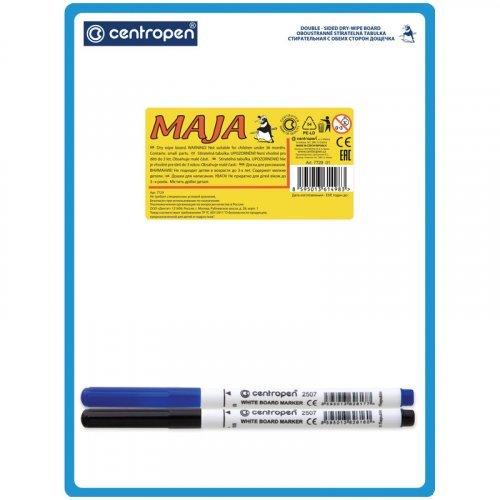 Доска для рисования с маркерами двухсторонняя Centropen, А5