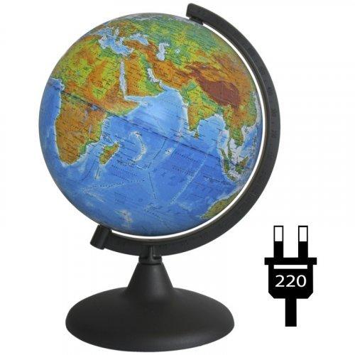 Глобус политический Глобусный мир, 21см, с подсветкой на круглой подставке