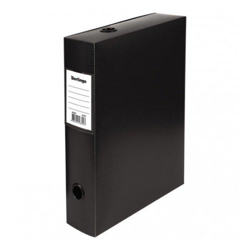 Короб архивный на кнопке Berlingo разборный, 70мм, пластик, 900мкм, черный