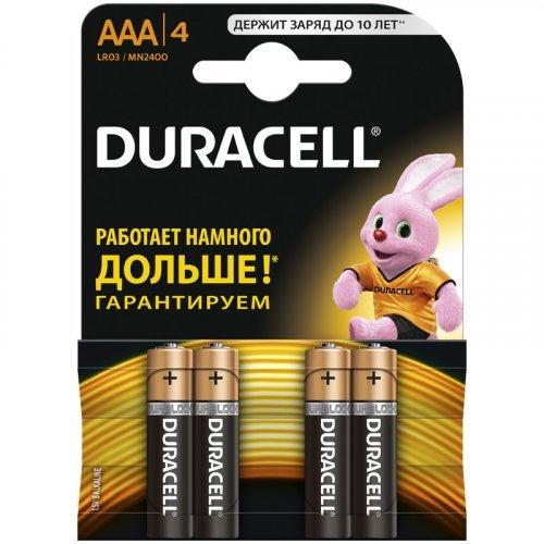 Батарейка Duracell Basic AAА (LR03) алкалиновая, 4BL
