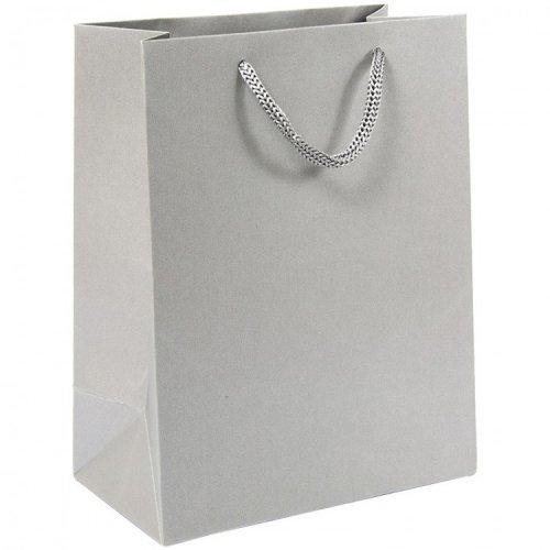 Пакет бумажный 17,8*22,9*9,8см, с металлическим эффектом, плотный